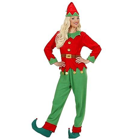 Costume Adulto Elfo donna aiutante di babbo natale Taglia M  Amazon ... 8fd96b8e677