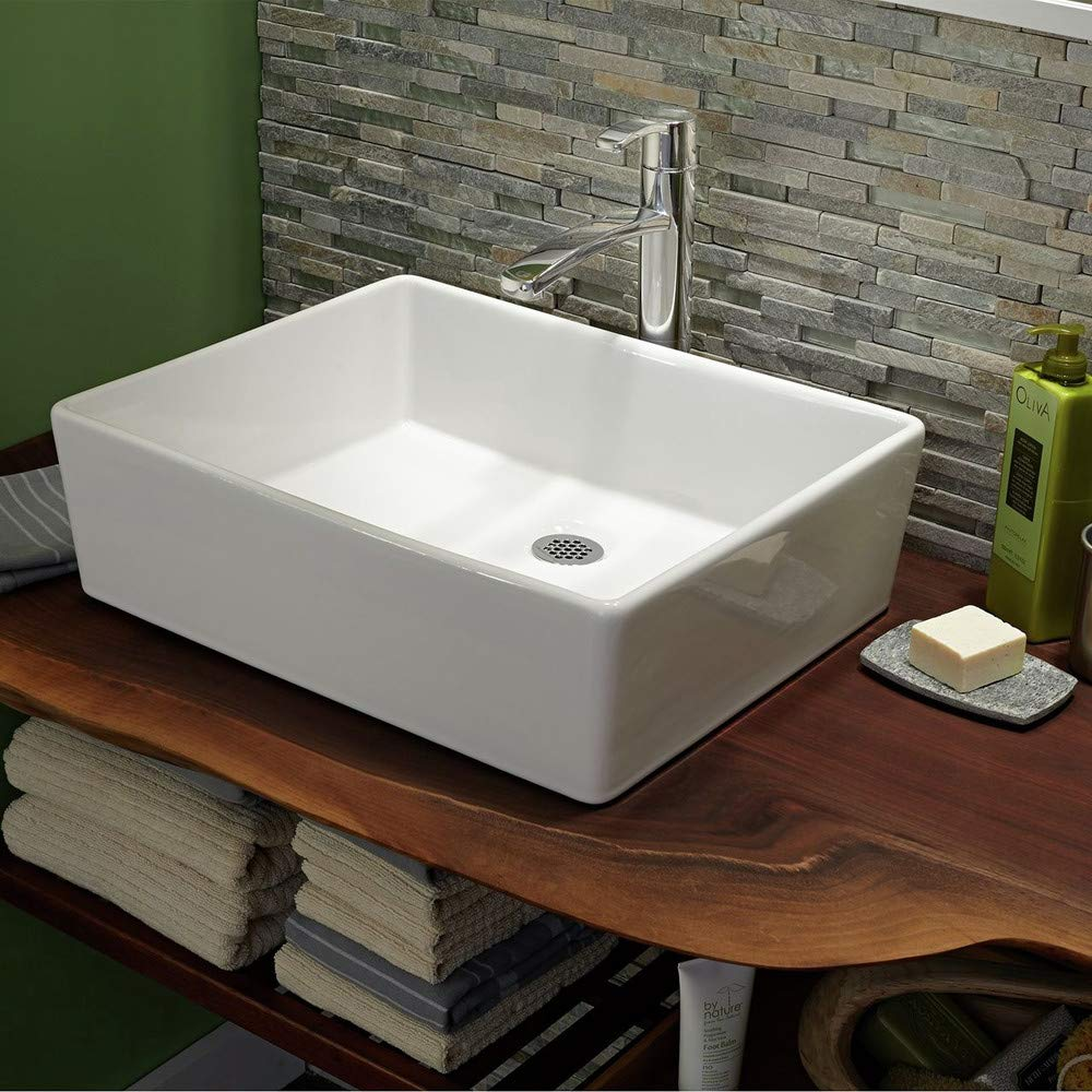 "American Standard White Loft 19.5"" Fireclay Bathroom Vessel Sink Basin"