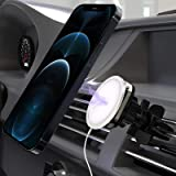Magnetic Phone Car Mount, Sorlnern 360° Adjustable Universal Air Vent Phone Cradle Stand, Compatible with iPhone 12 Pro Max M