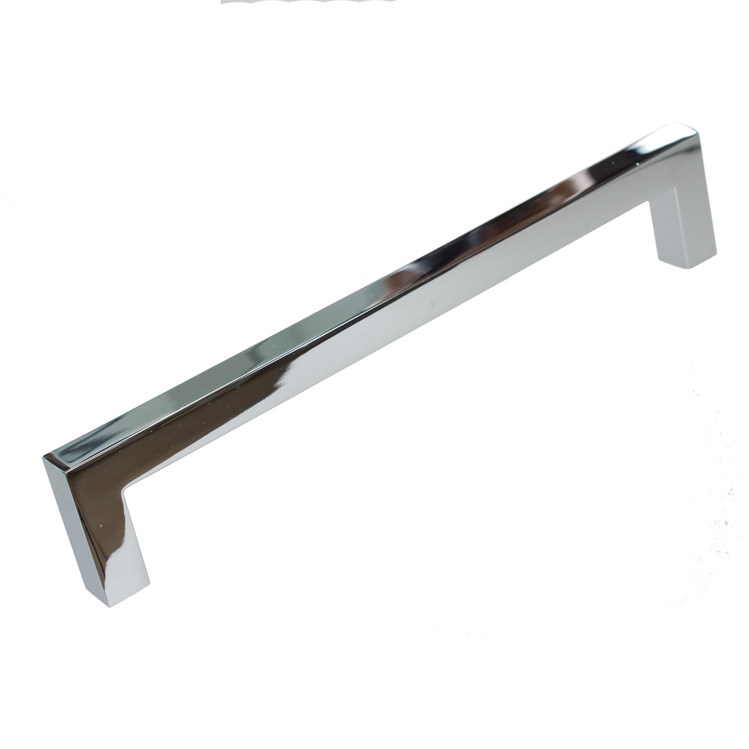 GlideRite Hardware 21683-160-PC-10 Solid Square Slim Cabinet Bar Pulls, 10 Pack, 6.25'', Polished Chrome
