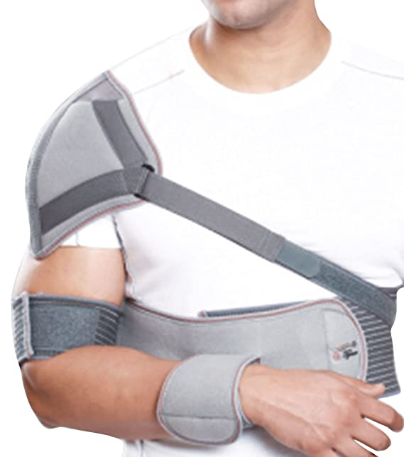 Tynor Elastic Shoulder Immobilizer - Medium Shoulder Supports at amazon