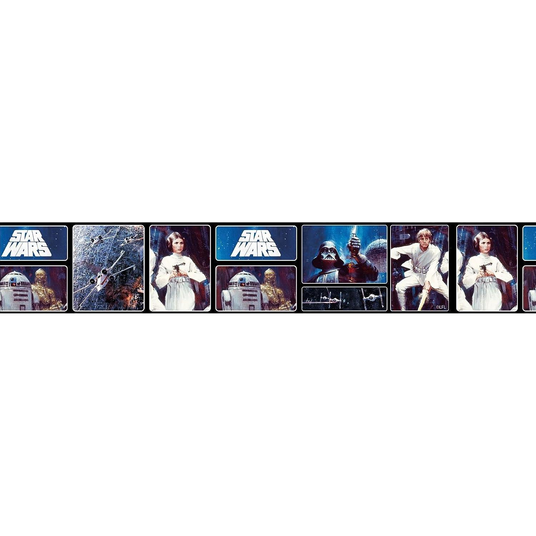Star Wars Retro Self Adhesive Wallpaper Border 5m Amazon