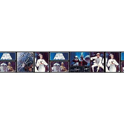 Beautiful Star Wars Retro Self Adhesive Wallpaper Border 5m - - Amazon.com XV54