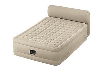 Intex - Colchón hinchable Intex fibertech +cabecero - 152x229x79 cm - 64460, pvc