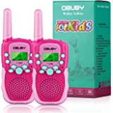 Obuby Walkie Talkies for Kids, 22 Channels 2 Way Radio Kid Gift Toy 3 KMs Long Range with Backlit LCD Flashlight Best…