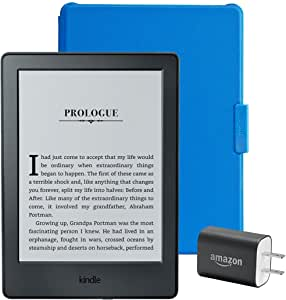 "Kindle Essentials Bundle including Kindle 6"" E-Reader (Previous Generation - 8th), Black with Special Offers, Amazon Cover for Kindle – Blue, and Power Adapter"