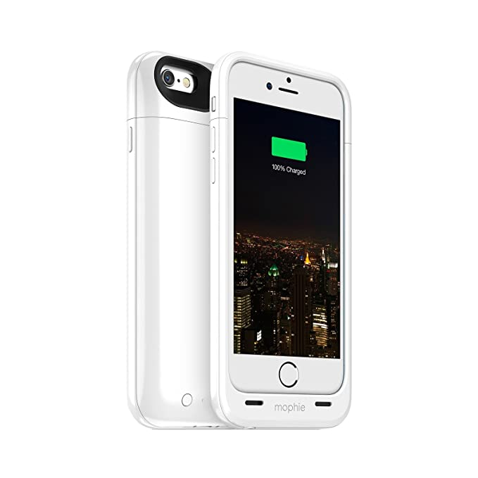 sale retailer 81137 06358 Mophie Juice Pack Plus - Protective Mobile Battery Pack Case for iPhone  6/6s – White (Renewed)