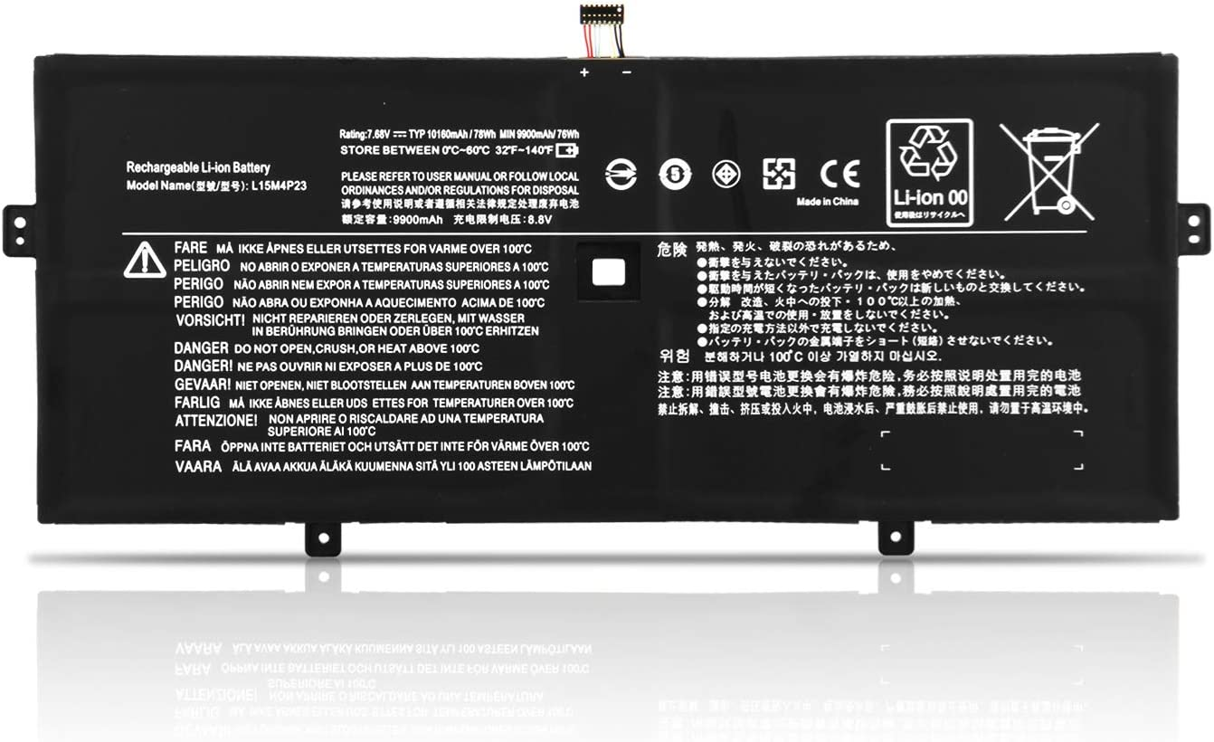ZTHY 78Wh L15M4P23 L15C4P21 Laptop Battery for Lenovo Yoga 910 glass 910-131KB 910-13IKB-80VF00BVHH 80VF004CGE 80VF00KXMH 80VF00FQUS 80VF00J6MH Yoga 5 Pro(512G) 5B10L46105 5B10L22508 L15C4P22 L15M4P21