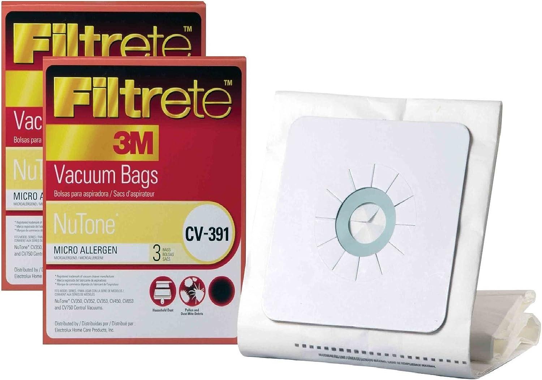 Filtrete Nutone CV-391 MicroAllergen Bags,6 Pack