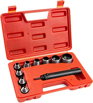 HAND HOLLOW HOLE PUNCHER PUNCHING CUTTING CUTTER TOOL DIE SET KIT GASKET LEATHER
