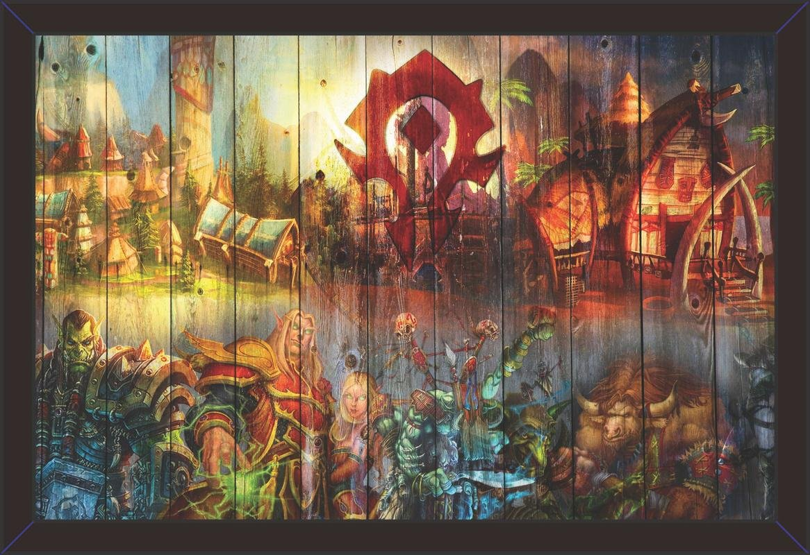 Mad Masters World Of Warcraft 1 Piece Wooden Framed Wall Painting