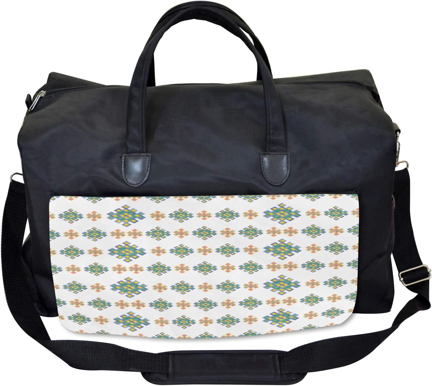 Large Weekender Carry-on Pastel Celtic Motifs Ambesonne Irish Gym Bag