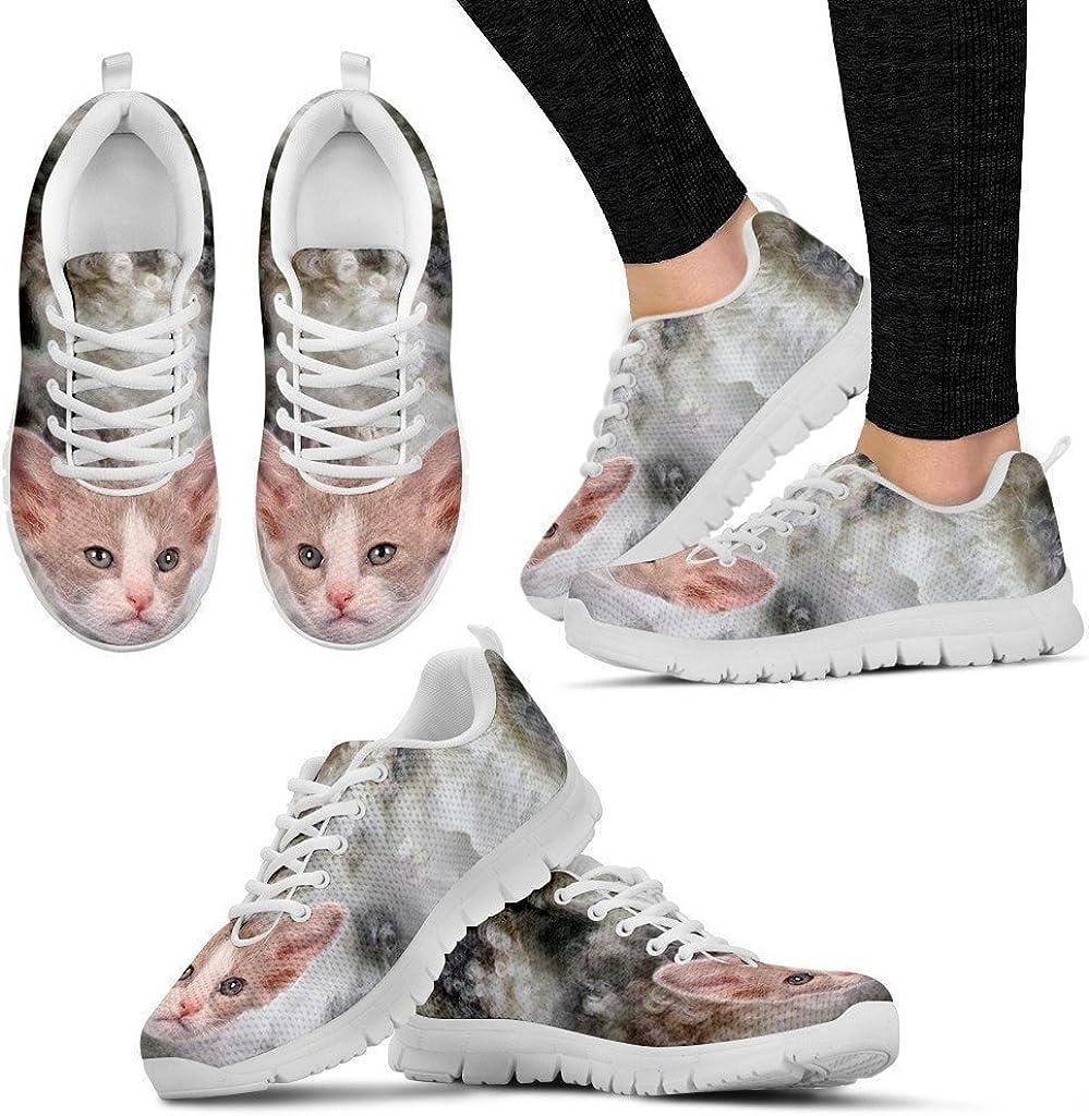 Beautiful LaPerm Cat Print Sneaker For Women Free Shipping