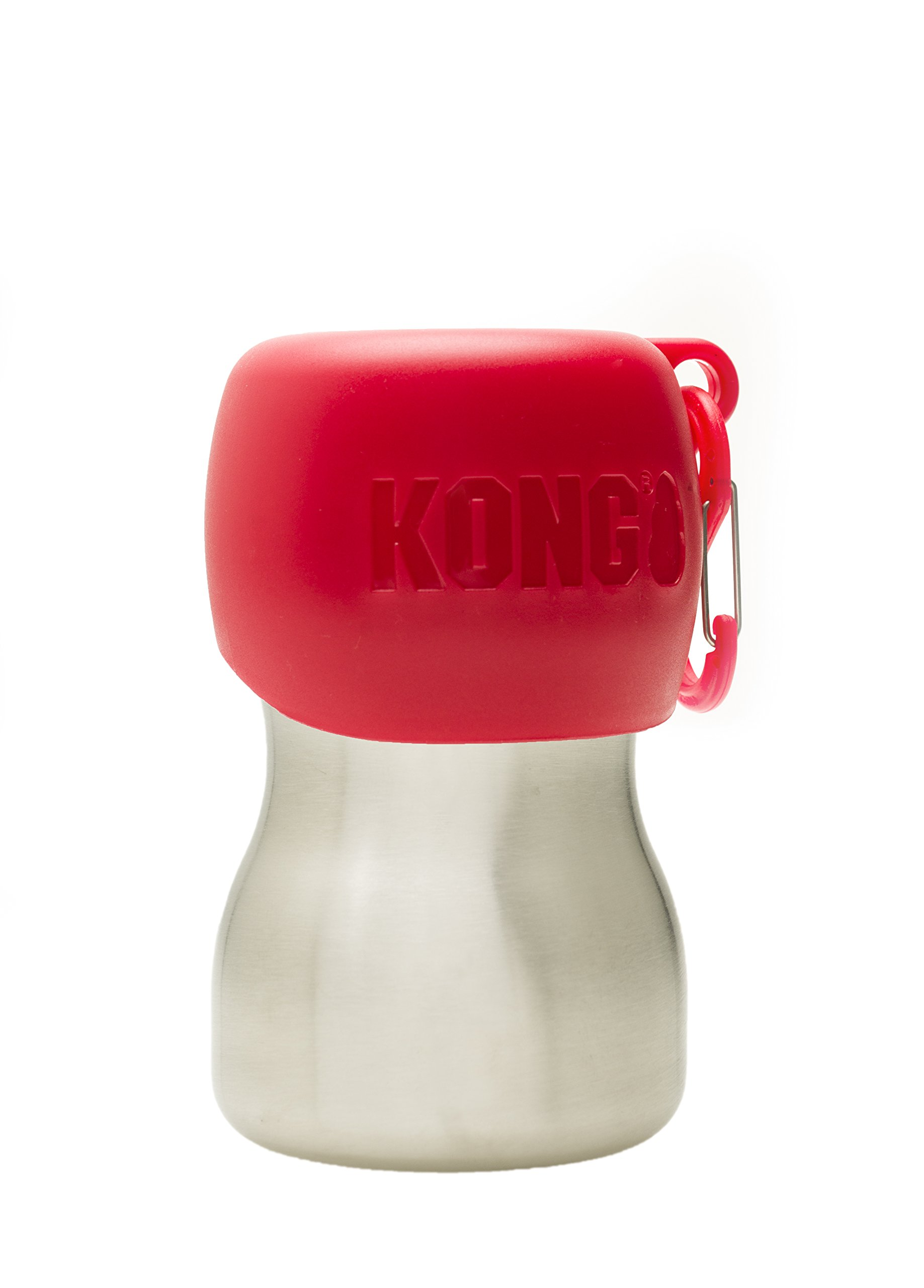 KONG H2O - Stainless Steel Dog Water Bottle - 9.5 oz - Red