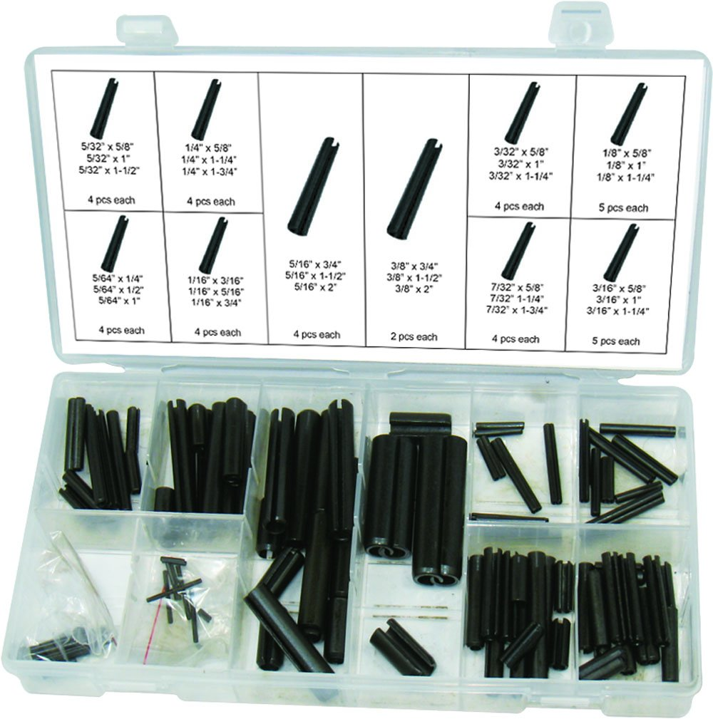 Swordfish 31190 Roll Slotted Spring Pin Assortment, 120 Piece