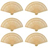 Dxhycc Sandalwood Fan (Set of 24 pcs) - Baby Shower Gifts & Wedding Favors