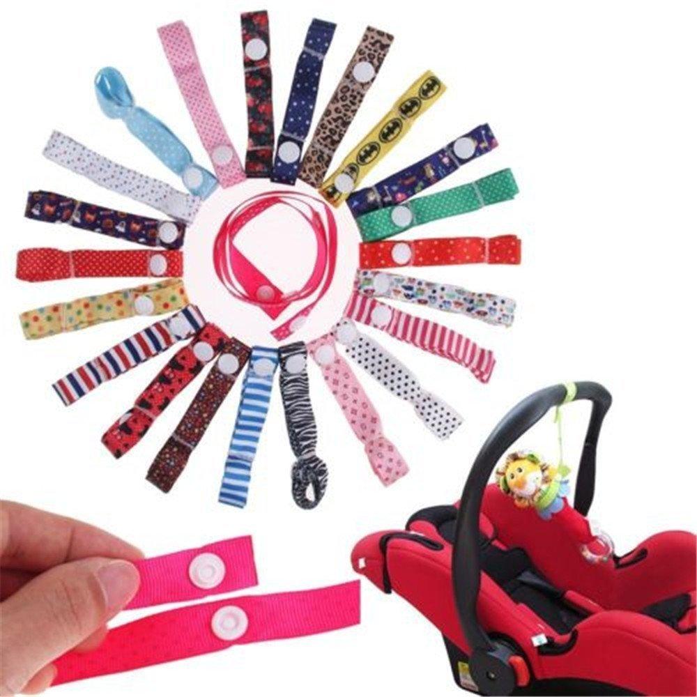 MAXGOODS 4Pcs Color Al Azar Linda Cadena Cinta para Sujetar el Chupete Infantil de Gota Resistente (color al azar) (We don't offer color chioce)