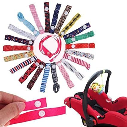MAXGOODS 4Pcs Color Al Azar Linda Cadena Cinta para Sujetar el Chupete Infantil de Gota Resistente (color al azar) (We dont offer color chioce)