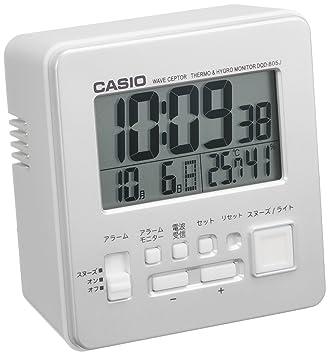 a0f2ce91aa Amazon.co.jp : カシオ デジタル電波目覚まし 日付表示 温・湿度表示付 ...