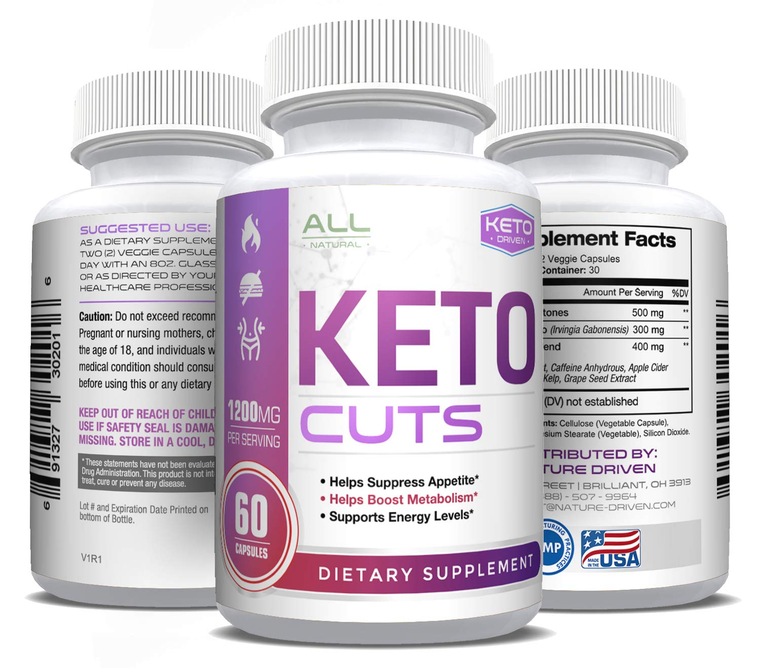 Weight Loss Pills for Women and Men - Best Keto Pills - Boosts Metabolism & Energy - Burn Fat Not Carbs - All-Natural Weight Loss - Electrolytes - 60 Capsules by Nature Driven by Nature Driven