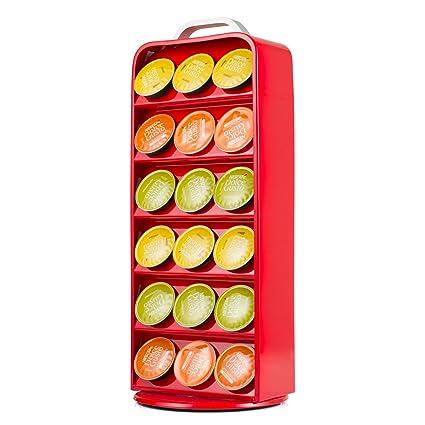 HiveNets Soporte para Cápsulas de Café Dolce Gusto Portacápsulas Metálico Vertical Giratorio para 36 pcs