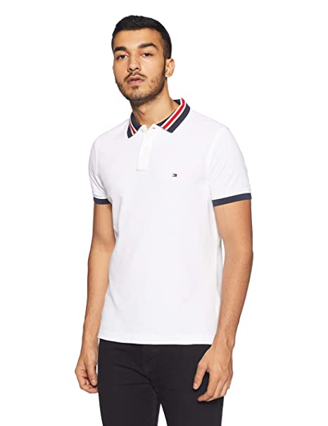 TOMMY HILFIGER Men's Printed Slim Fit Polo