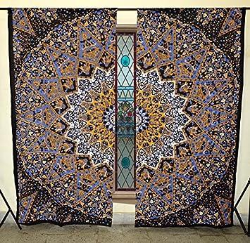 Star Mandala Curtains Drape Balcony Room Decor Bohomein Ethnic Window Treatments Living Bedroom