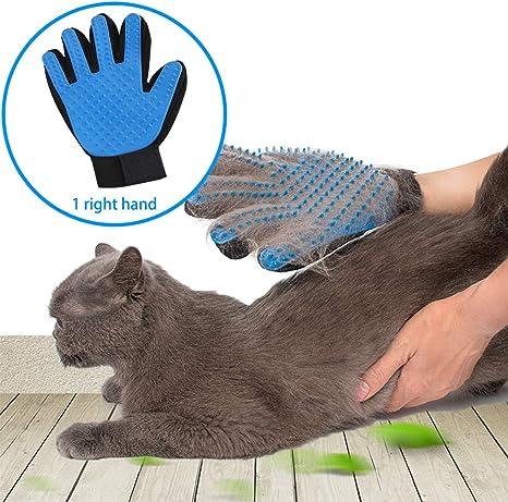 Gentle Deshedding Brush Glove Pet Dog Cat Massage Hair Removal