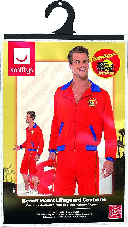 SmiffyS 32893L Disfraz De Vigilante De La Playa De Baywatch Con ...