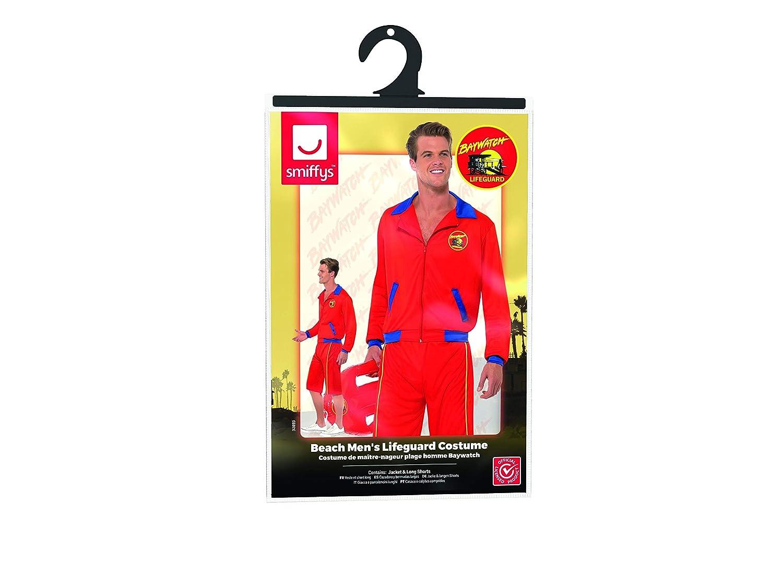 c3d226de78 Amazon.com: Baywatch Beach Movie Lifeguard Costume Sexy Mens Red Jacket N'  Long Shorts MD-LG: Clothing