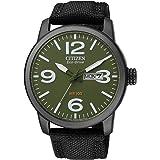 Citizen BM8476-15X - Reloj analógico de cuarzo para hombre, correa de nailon color negro