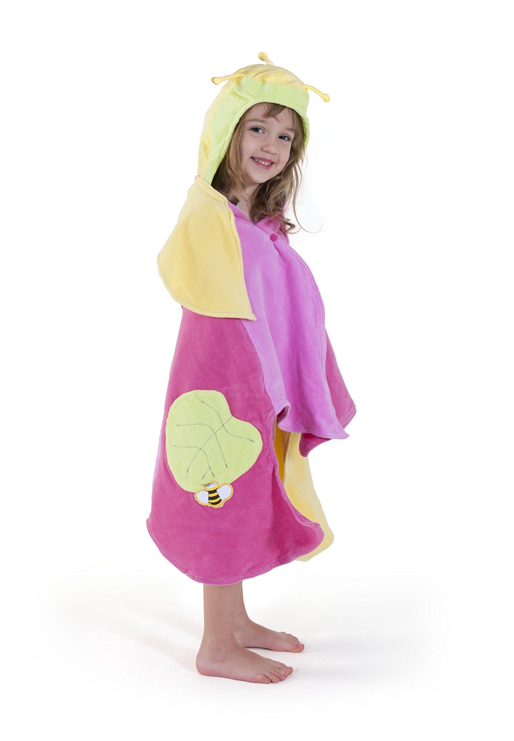 Kidorable Girls 2-6X Lotus Towel, Yellow, Small