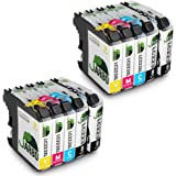 JARBO Compatible Brother LC 223 XL Ink Cartridges High Capacity with New Updated Chips Compatible with Brother DCP-J4120DW DCP-J562DW,MFC-J480DW J680DW J880DW J4420DW J4620DW J4625DW J5320DW J5620DW J5625DW J5720DW (4 Black,2 Cyan,2 Magenta,2 Yellow)