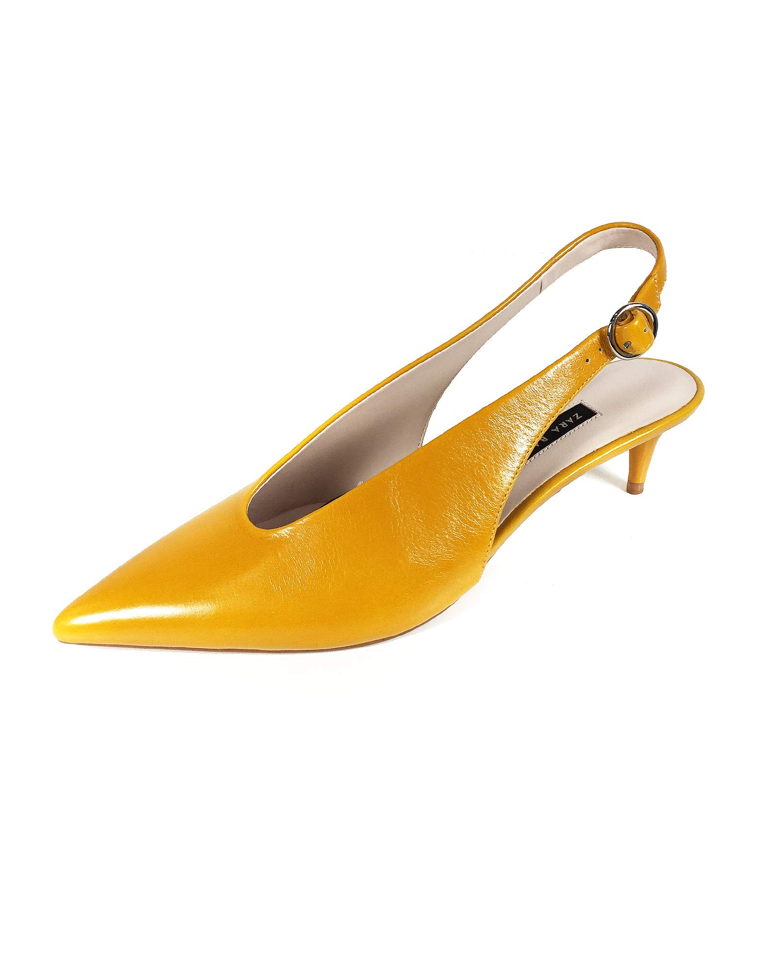 Zara Women Leather backless high heel shoes 6204/301 (42 EU | 11 US | 9 UK)