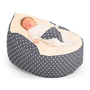 2019 New Style Gaga Pre-filled Baby Bean Bag Grey Other