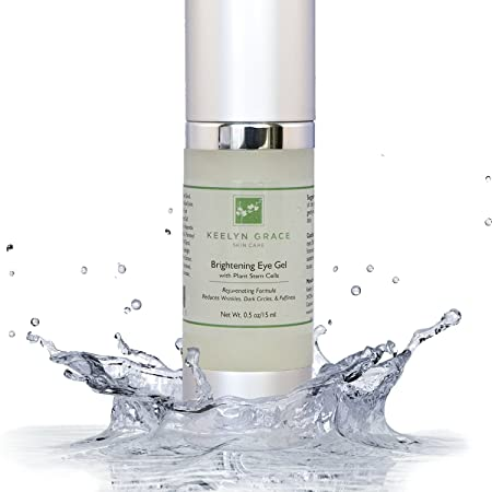 Eye Gel Cream for Dark Circles, Puffiness, Bags and Wrinkles by Keelyn Grace – Plant Stem Cell Therapy with Echinacea, Cucumber, Aloe and Licorice, Rich In Peptides, Vitamin C, Hyaluronic Acid
