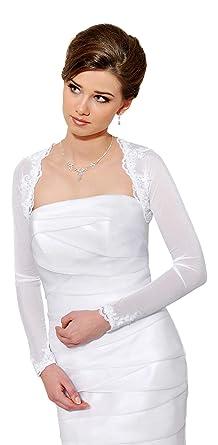 Splendido Coprispalle Nuziale Stile Bolerino da Sposa in Tulle