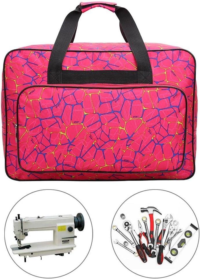 bolsa de transporte universal de nailon nailon Rose Red 18.1x12.2x9.4in funda de almacenamiento acolchada universal con bolsillos y asas Bolsa para m/áquina de coser