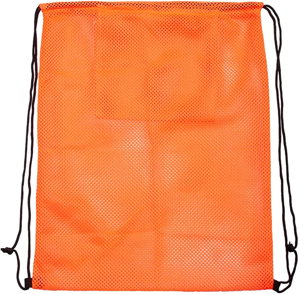 Sports Equipment Mesh Drawstring Bag/Backpack Bag/Duffle Bag for Gym Training, Soccer, Football, Basketball, Volleyball, Swimming Gear, Laundry, Beach Toys