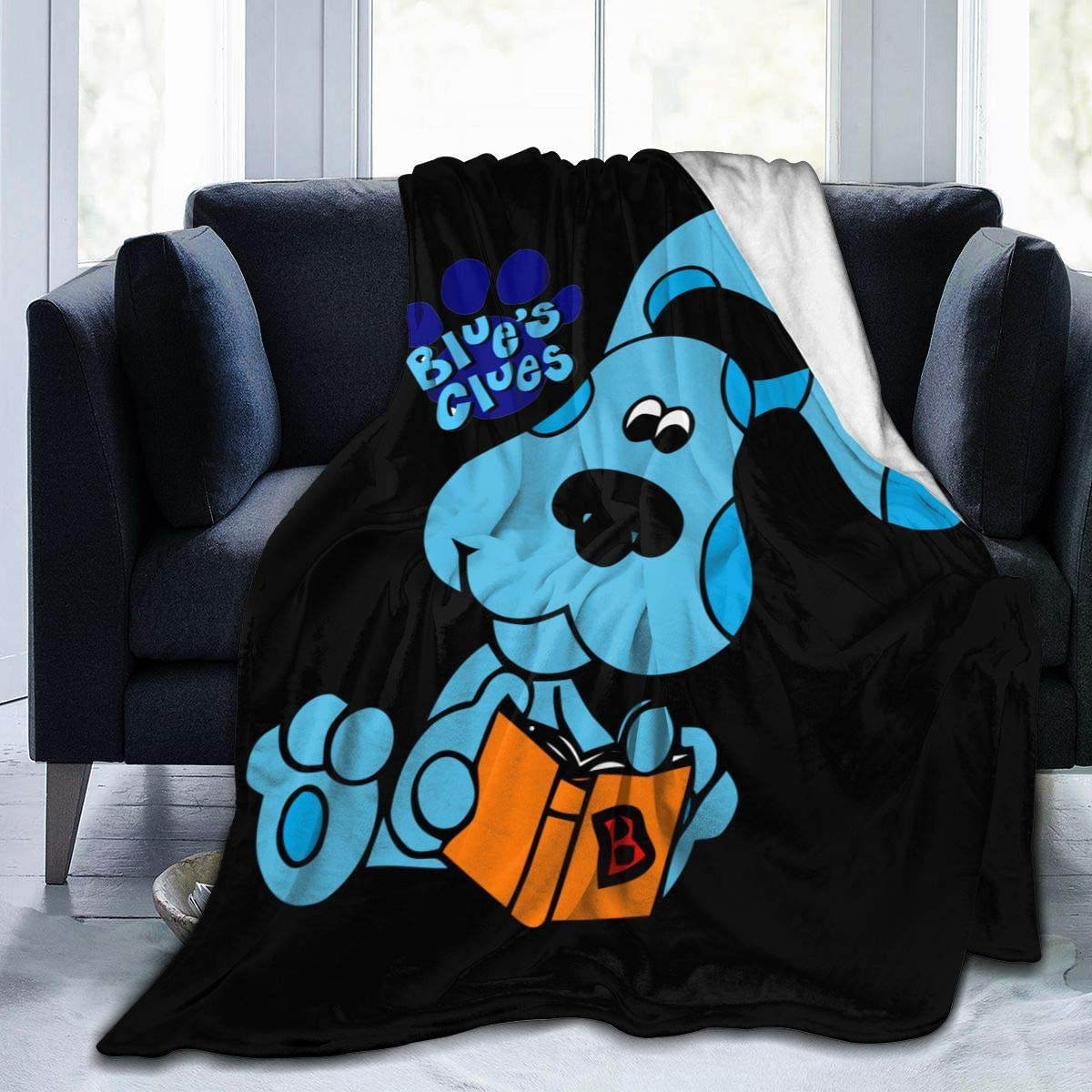 "BodiGulick Blue's Clues Dog Soft and Warm Throw Blanket Soft Micro Fleece Blanket Plush Bed Couch Throw Blanket 50""x40"""