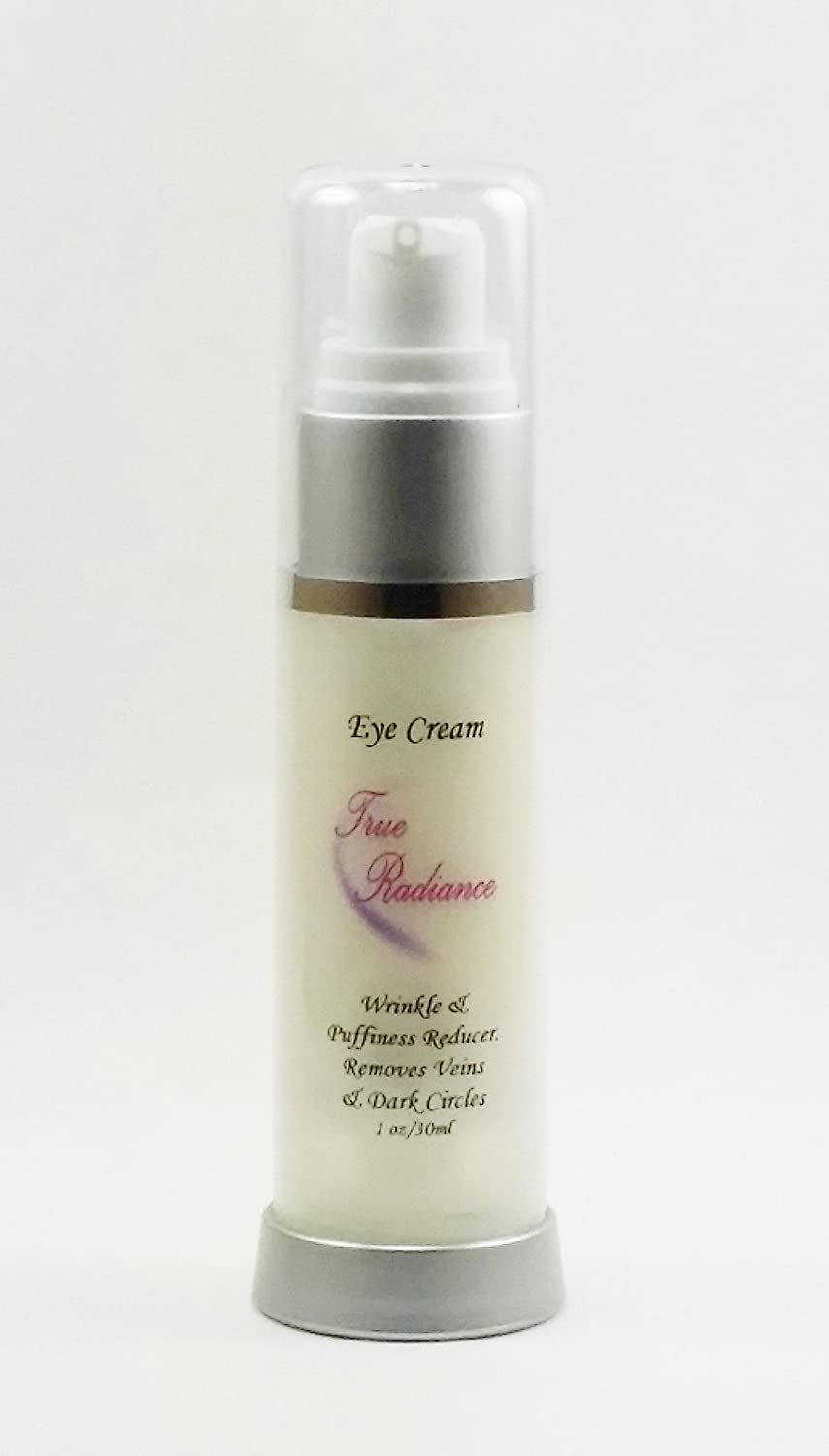 True Radiance Lineless Eye cream removes crows feet, dark circles and Puffiness, fine lines. Anti-aging, anti-wrinkle and more. Also has 10% Reguage, 10% Syncoll, 8% Pepha-tight, DMAE, Glycerin and much more. PARABEN FREE 1 oz eye cream. 1002