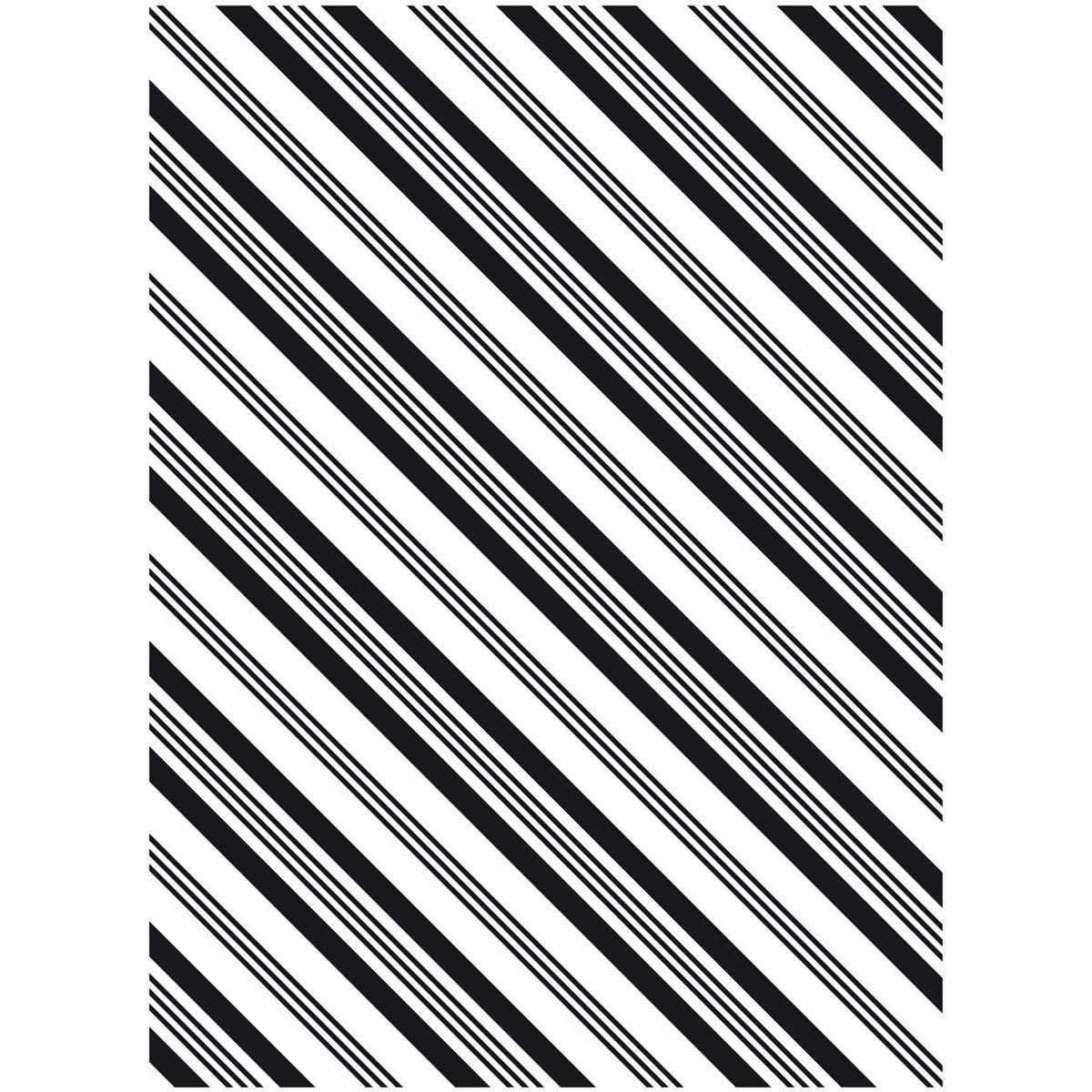 Darice Embossing Folder Stripe Background 4.25 X 5.75 Inches (12 Pack)