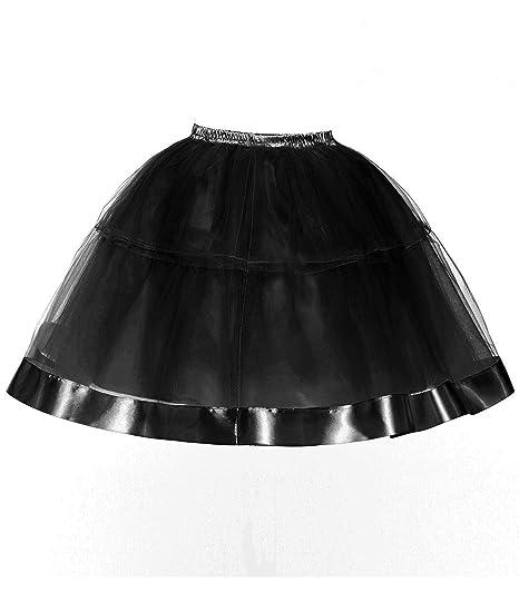 Ruiyuhong Womens 5 Layered Skirt Short Tutu Underskirt Tulle