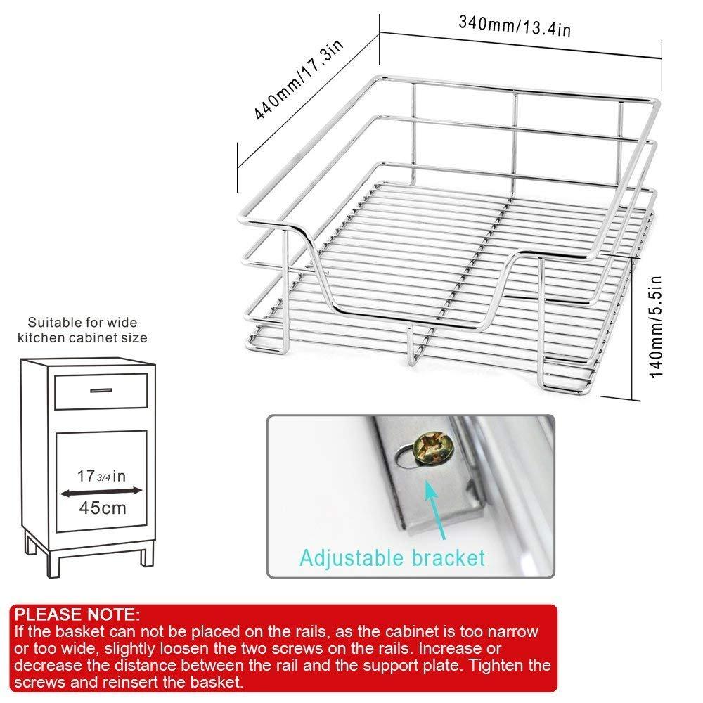 Ausgezeichnet Küchenschublade Organisatoren Für Töpfe Und Pfannen ...