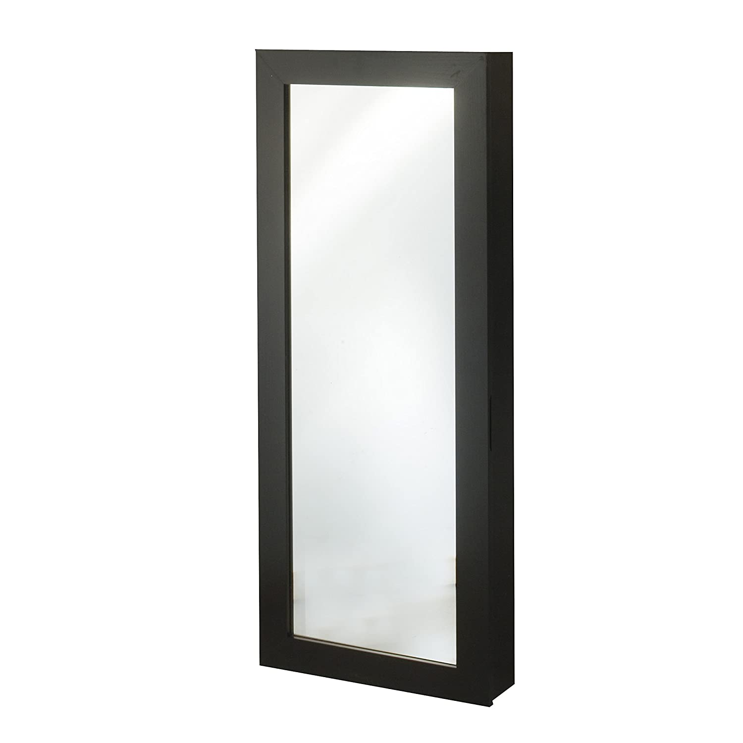 Space Saver Mirrored Jewelry Armoire, Black InnerSpace JAOTDSS-BLACK
