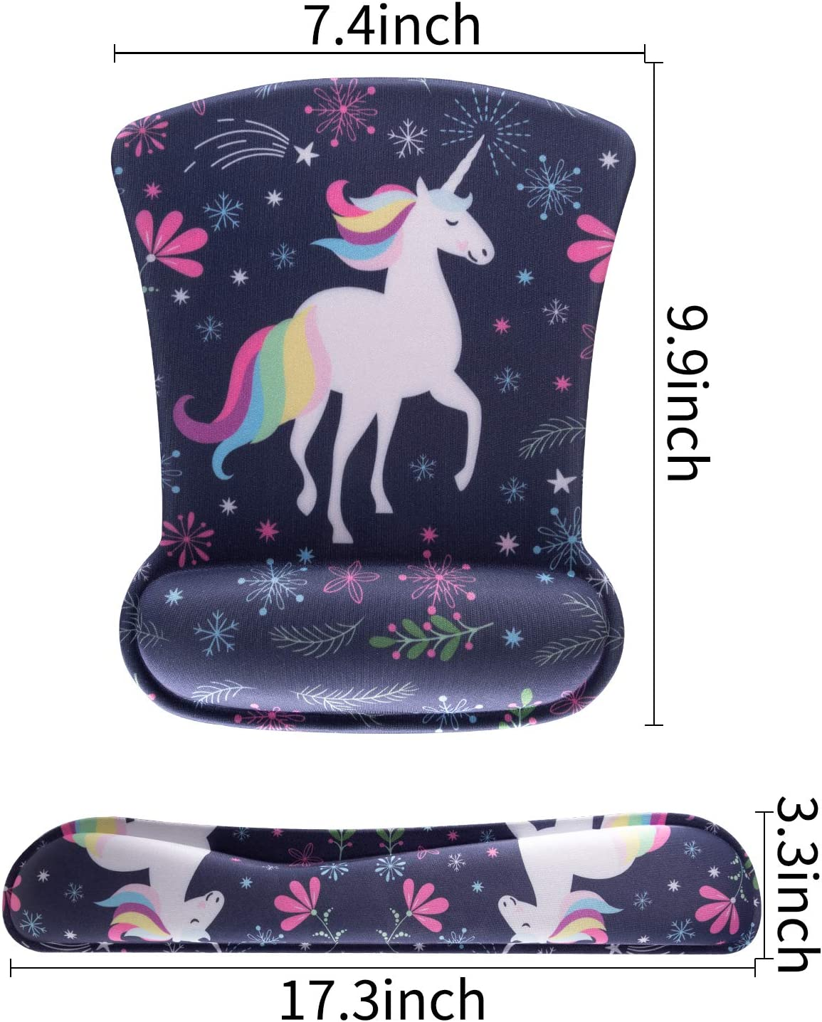 AORTDES Keyboard Wrist Rest Pad And Mouse Wrist Rest Support Colorful Butterflies /& Flowers Durable /& Comfortable /& Lightweight Mouse Pad Rest Set For Easy Typing /& Pain Relief Ergonomic Support