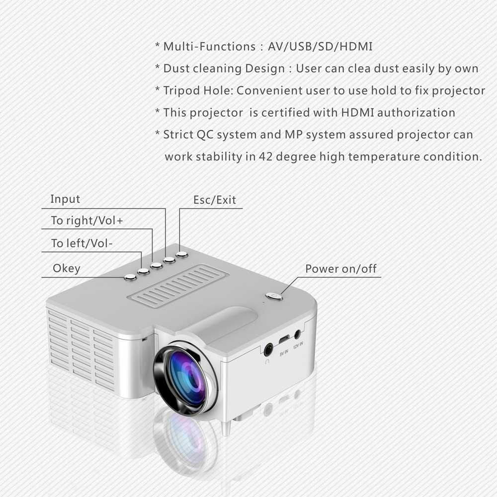 teepao Mini - Proyector de LED, 2018 mejorada deeplee Portable ...