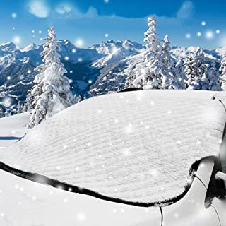 OYISIYI Car Windshield Snow Cover & Sun Shade Protector - Snow, Ice and Frost Guard Fits Most Vehicles 47'x80'