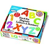 Small World Toys Ryan's Room Wooden Toys - Stick 'Em Magnets  Letters and Numbers 77 Pc. Set