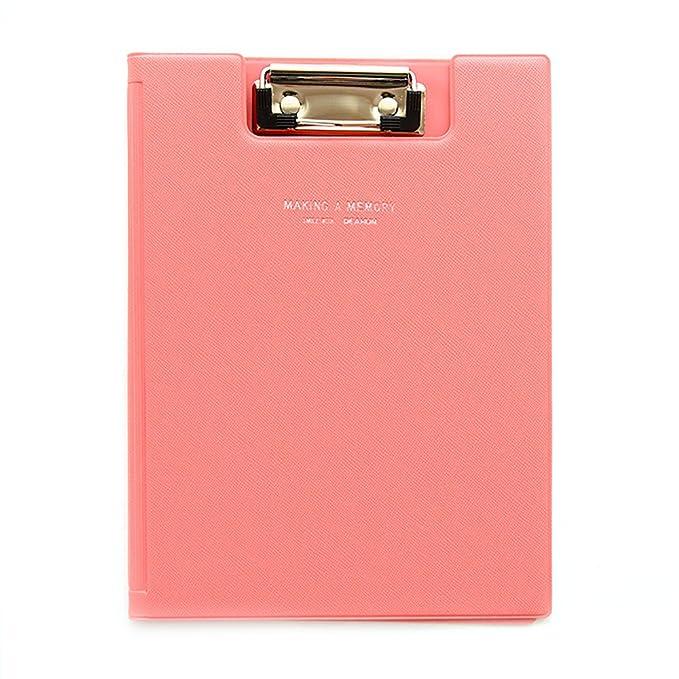 Zhi Jin Conference Macaron A5 Foldover File Writing Clipboard Folder Foolscap Hard Board Document Organizer Pink Clipboards
